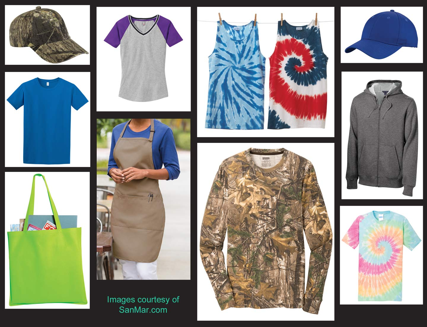 Items available from SanMar