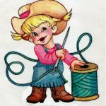 country girls embroidery icon