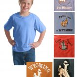 Custom youth 100% cotton short sleeve t-shirt
