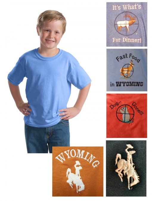 Custom youth 100% cotton short sleeve t-shirt