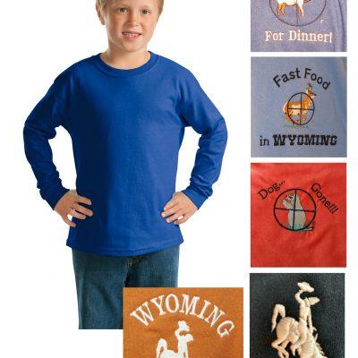 Youth custom long sleeve t-shirt