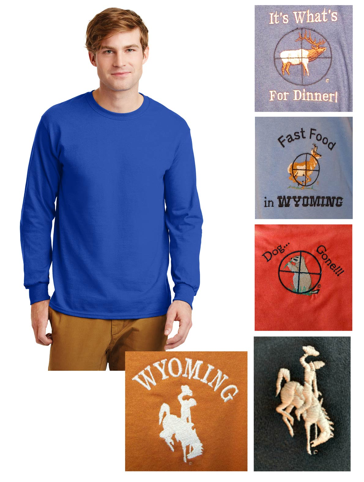 Custom 100% cotton long sleeve t-shirt