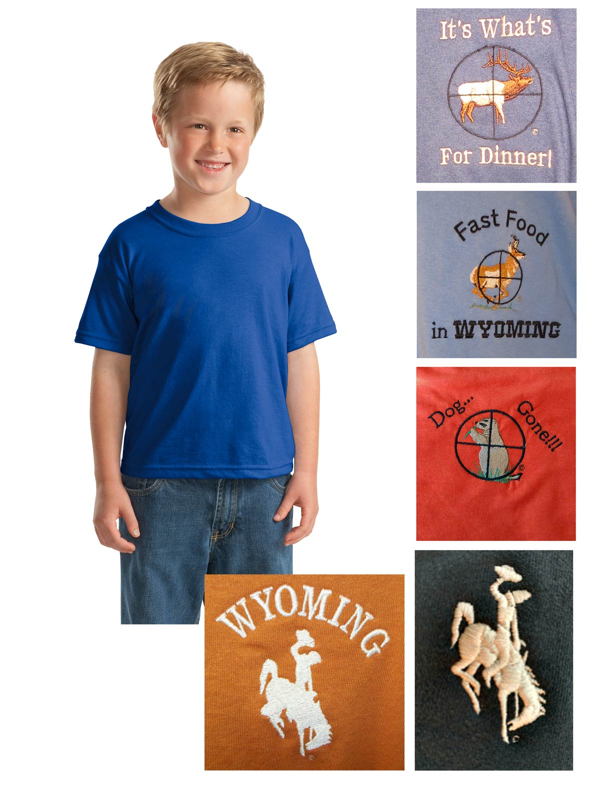 Youth custom cotton blend t-shirt
