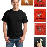 Custom poly-cotton short sleeve t-shirt
