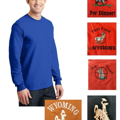 Custom 50/50 cotton/poly long sleeve t-shirt