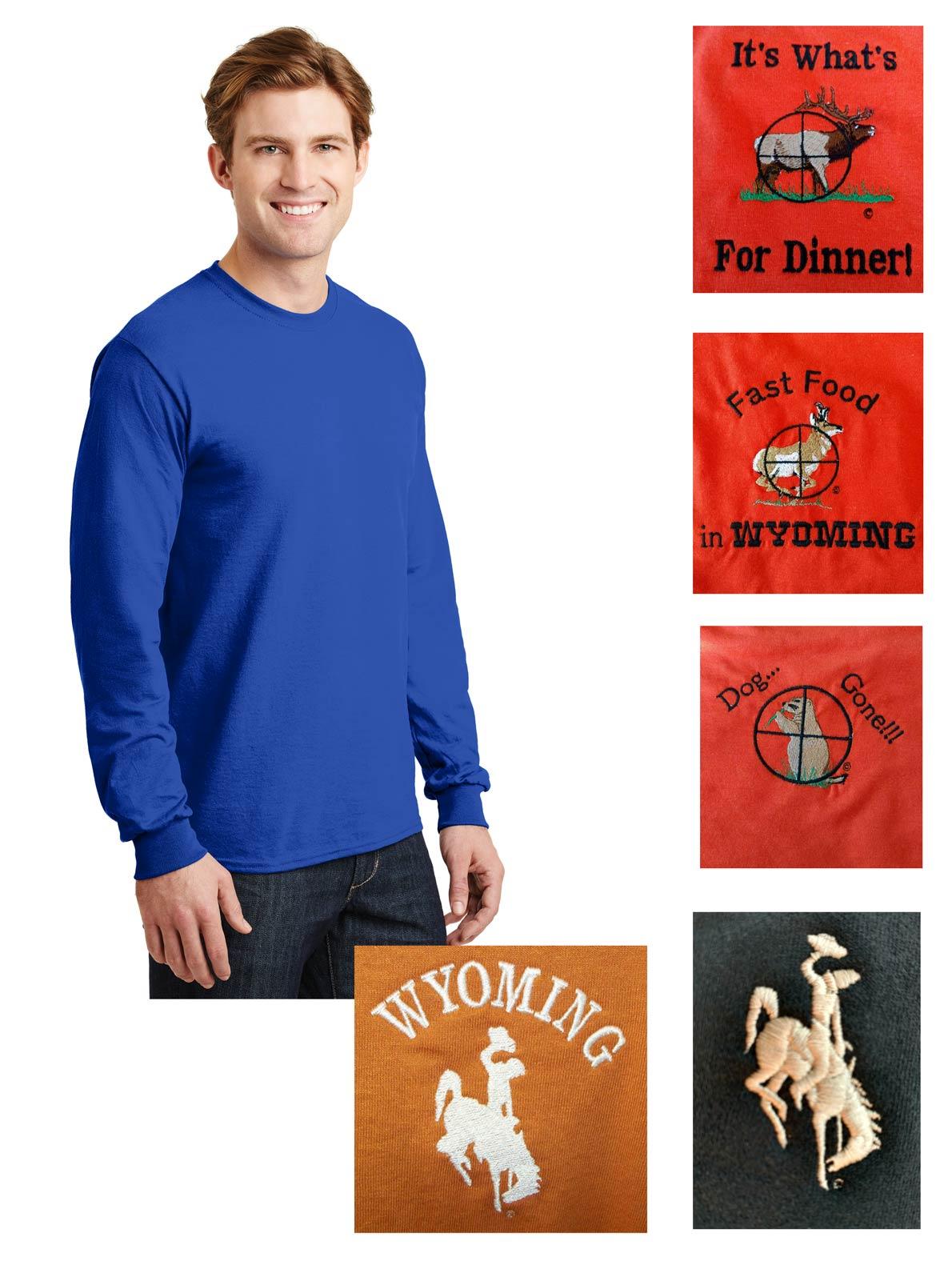 Custom 50/50 cotton/poly long sleeve t-shirt