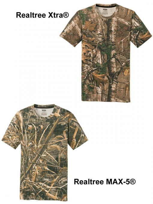 Custom camo t-shirt pattern choices