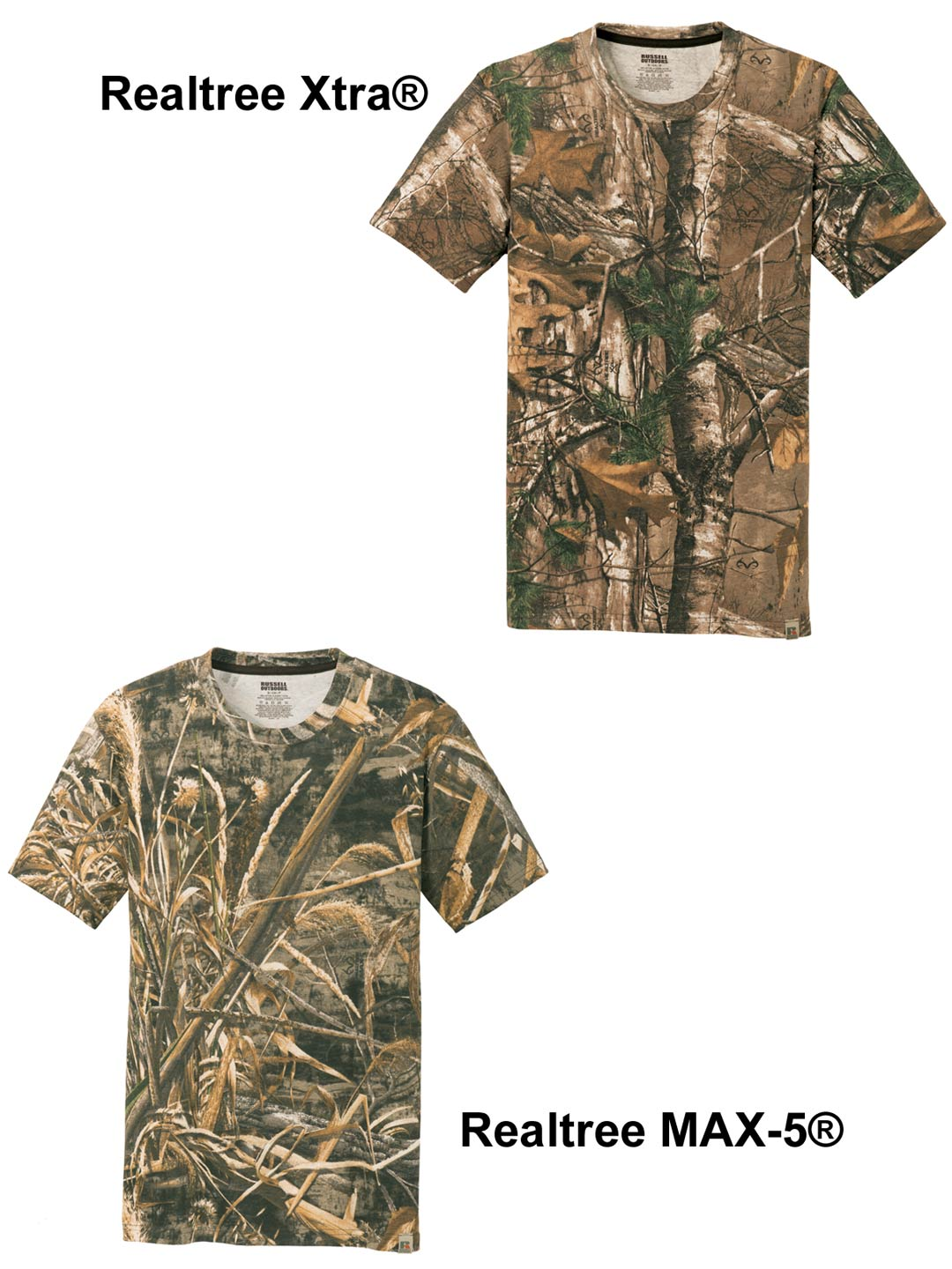 Custom camo t-shirt pattern choices