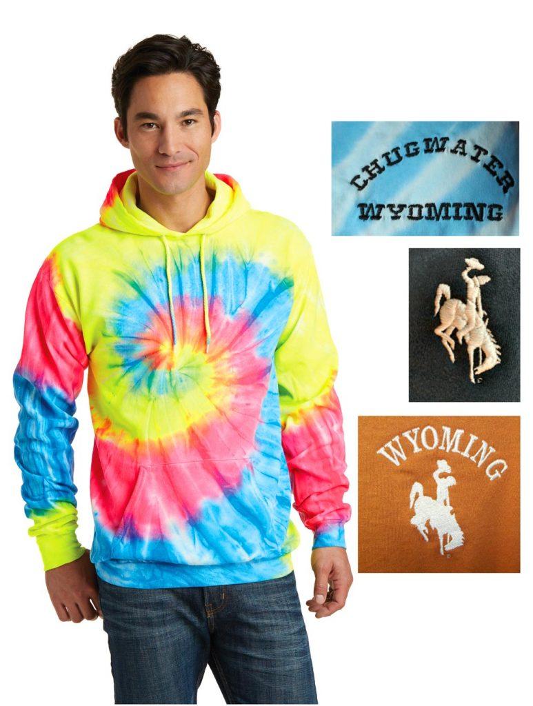 Custom tie-dye hoodie