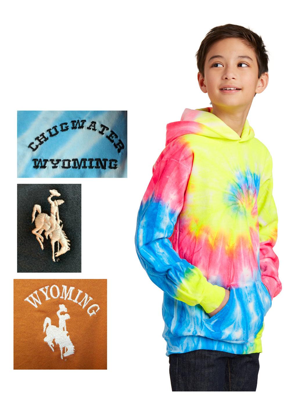Youth custom tie-dye hoodie