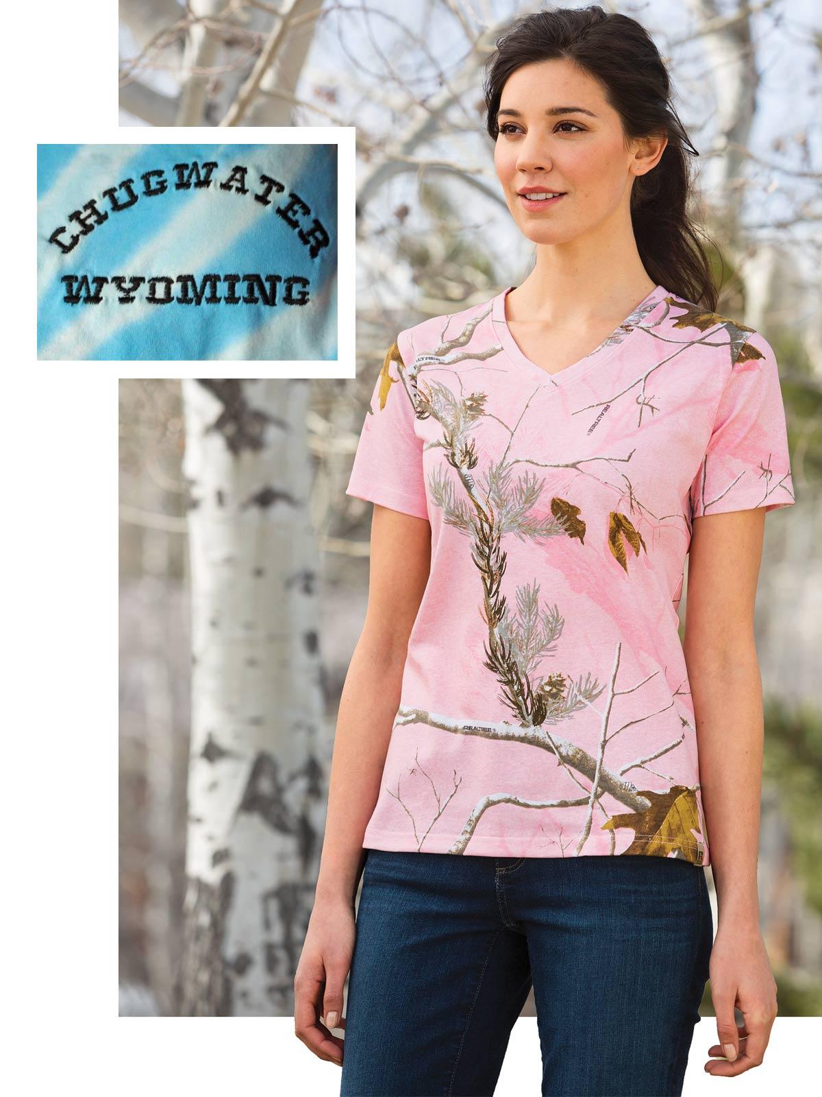 Custom pink camo t-shirt