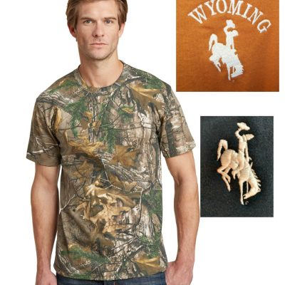 Custom Wyoming camo t-shirt