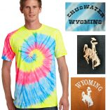 Custom tie-dye short sleeve t-shirt