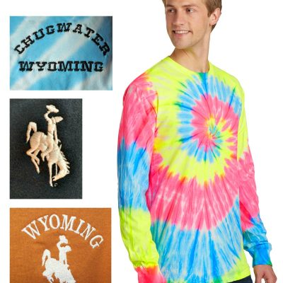 Custom long sleeve tie-dye t-shirt