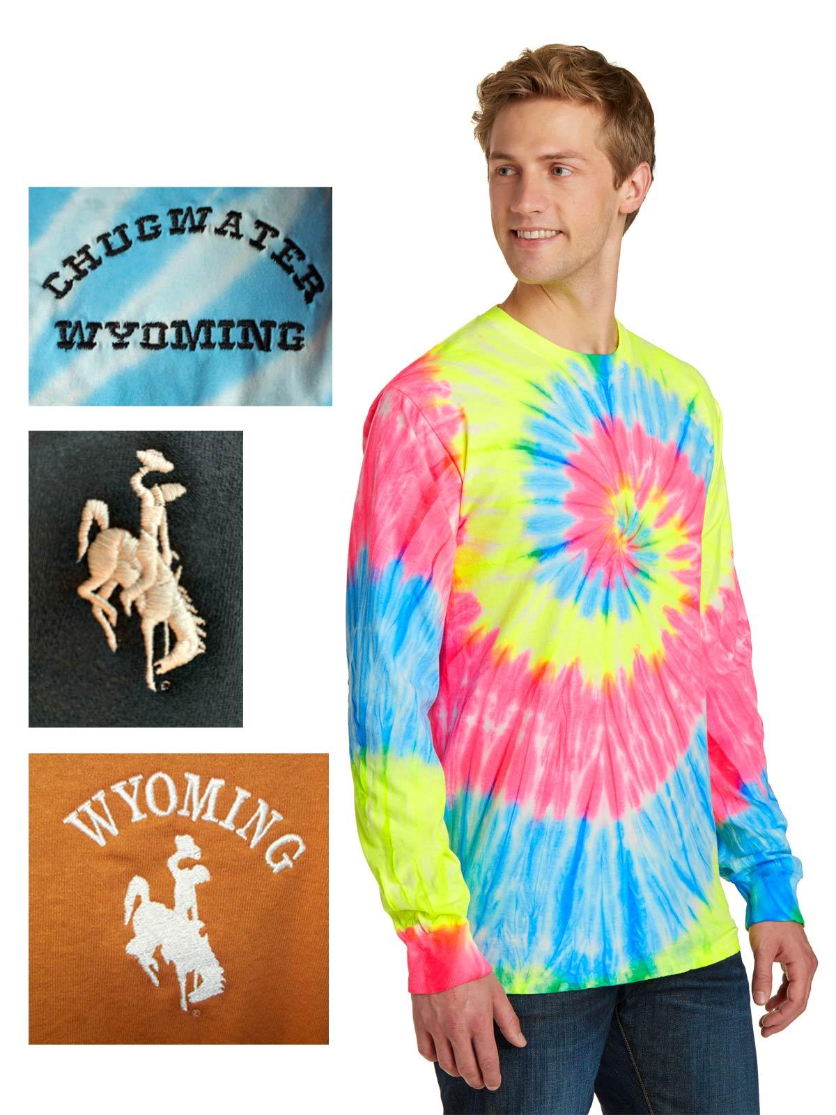 Custom long sleeve tie-dye t-shirt
