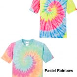 tie dye t-shirt color/pattern choices