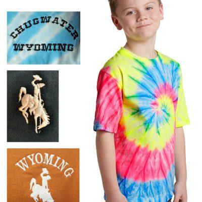 youth custom tie-dye short sleeve cotton t-shirt