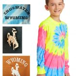 Youth custom tie-dye long sleeve t-shirt