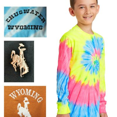 Youth custom tie-dye long sleeve t-shirt