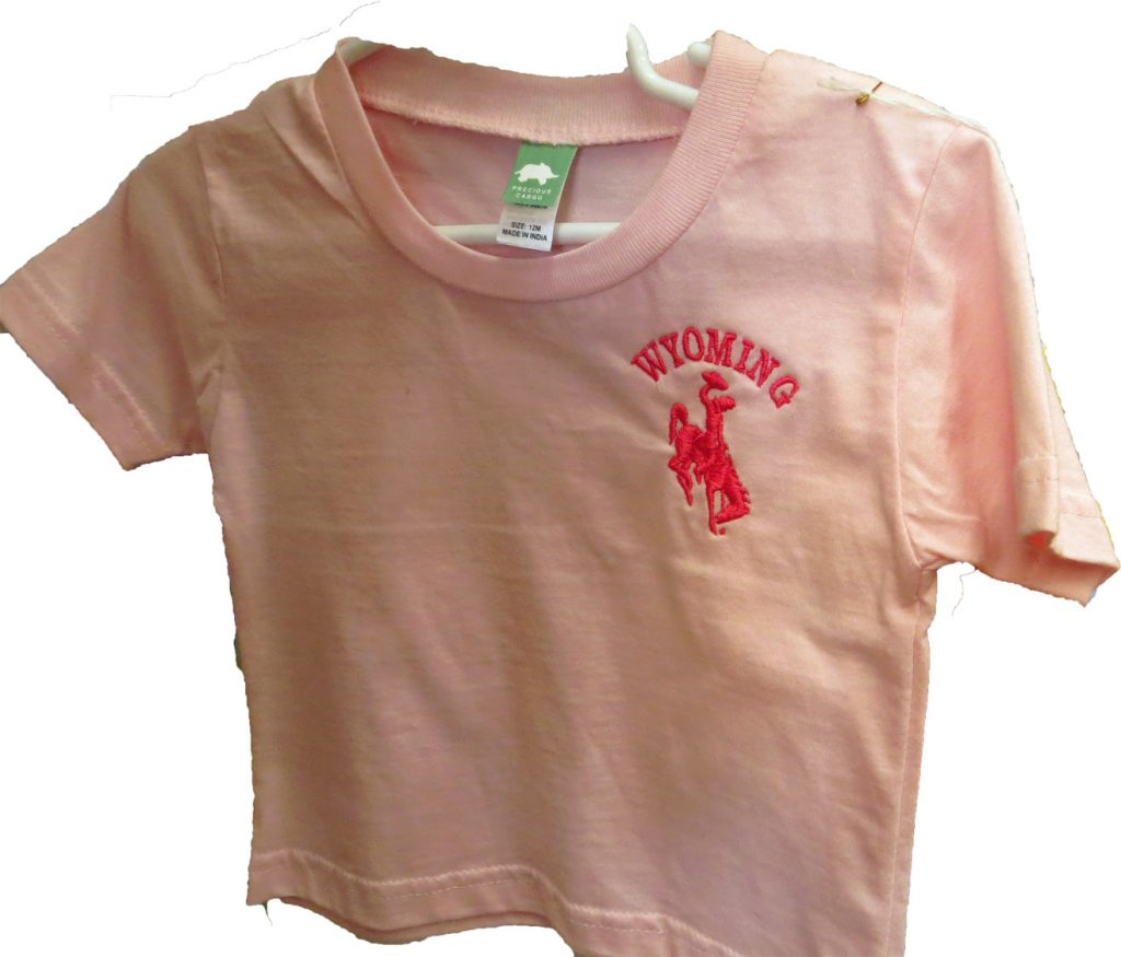 Kids Pink Wyoming T Shirt