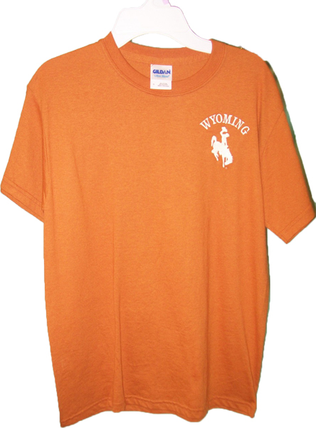 Orange Wyoming T Shirt