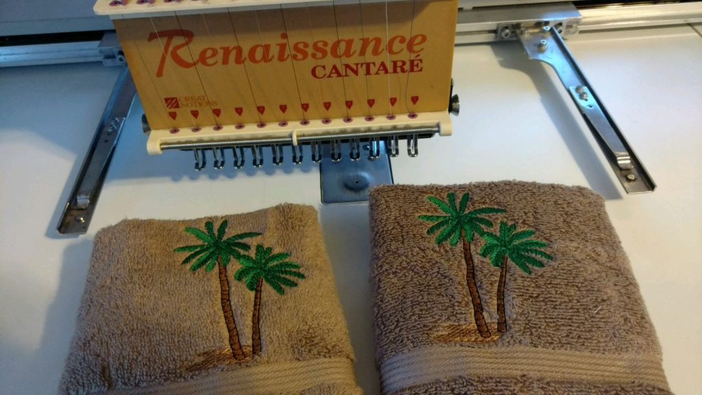 Tropical Towel Set Palm Trees