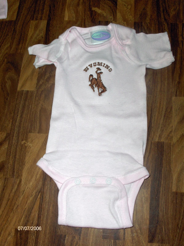 Wyoming Infant Onesie