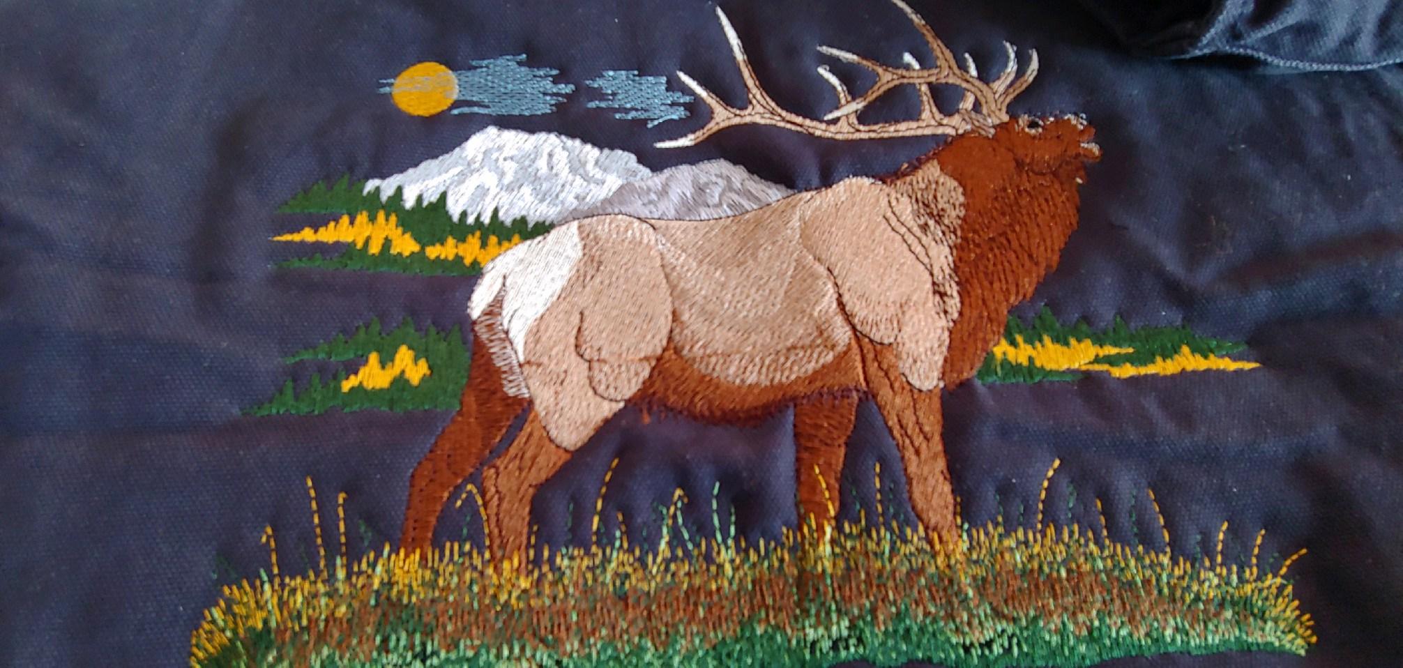 Elk Vest Embroidery Design