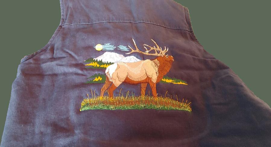 Embroidered Elk Vest